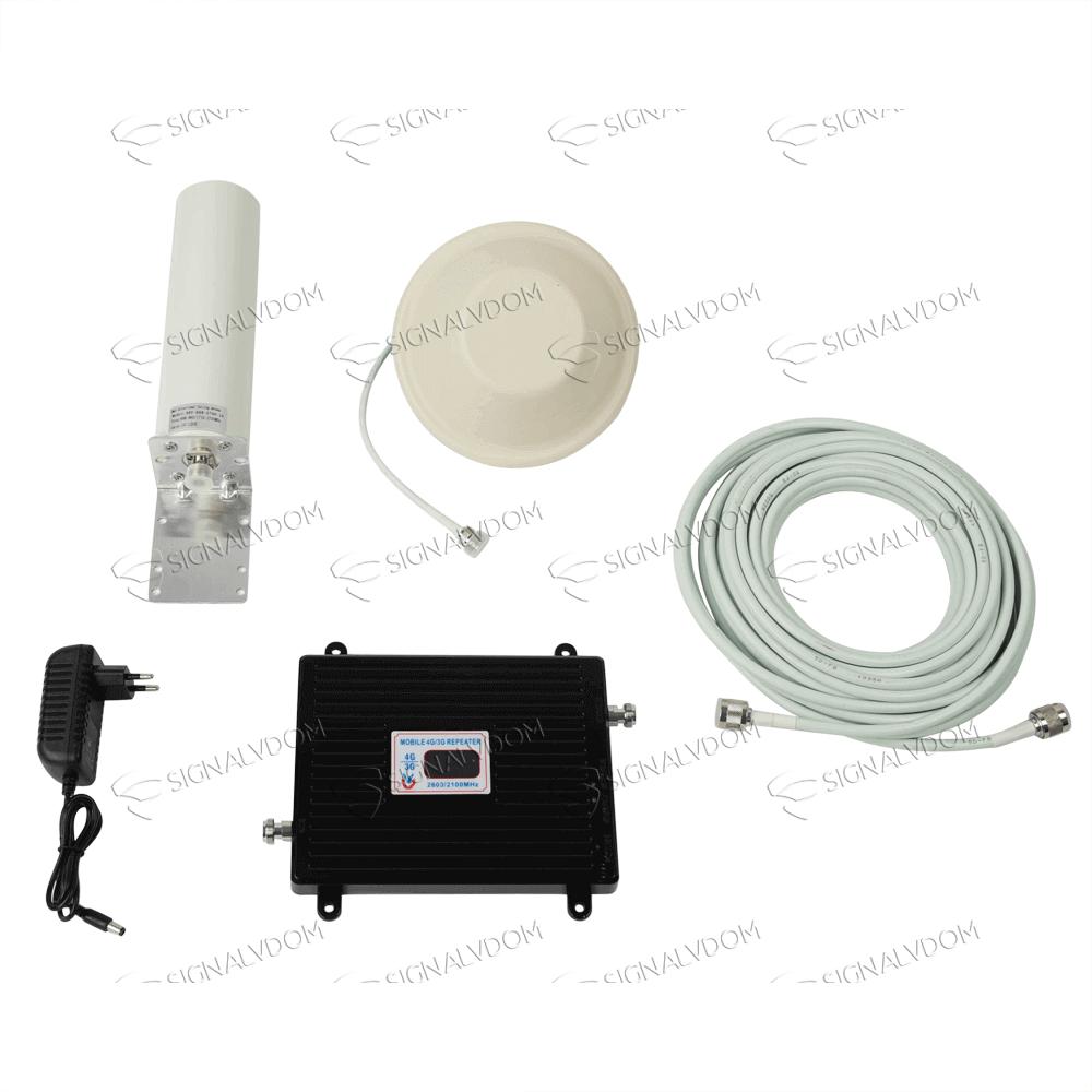 Усилитель сигнала Wingstel 2100/2600 mHz (для 3G/4G) 65dBi, кабель 15 м., комплект